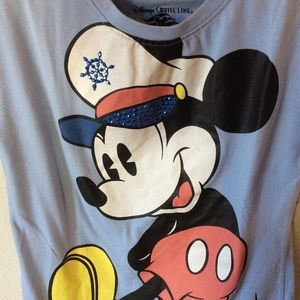 Disney Shirts & Tops - Captain Sailor Mickey Mouse Disney Cruise Tee